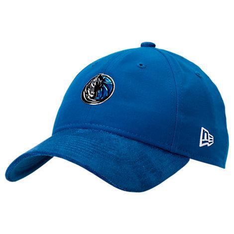 New Era Dallas Mavericks Nba 2017 Draft Official On Court Collection 9twenty Adjustable Hat, Blue