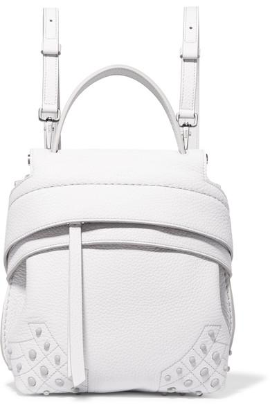 Tod's Wave Mini Embellished Textured-leather Backpack