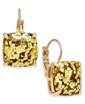 Kate Spade New York Gold-tone Glitter Drop Earrings In Gold Glitter