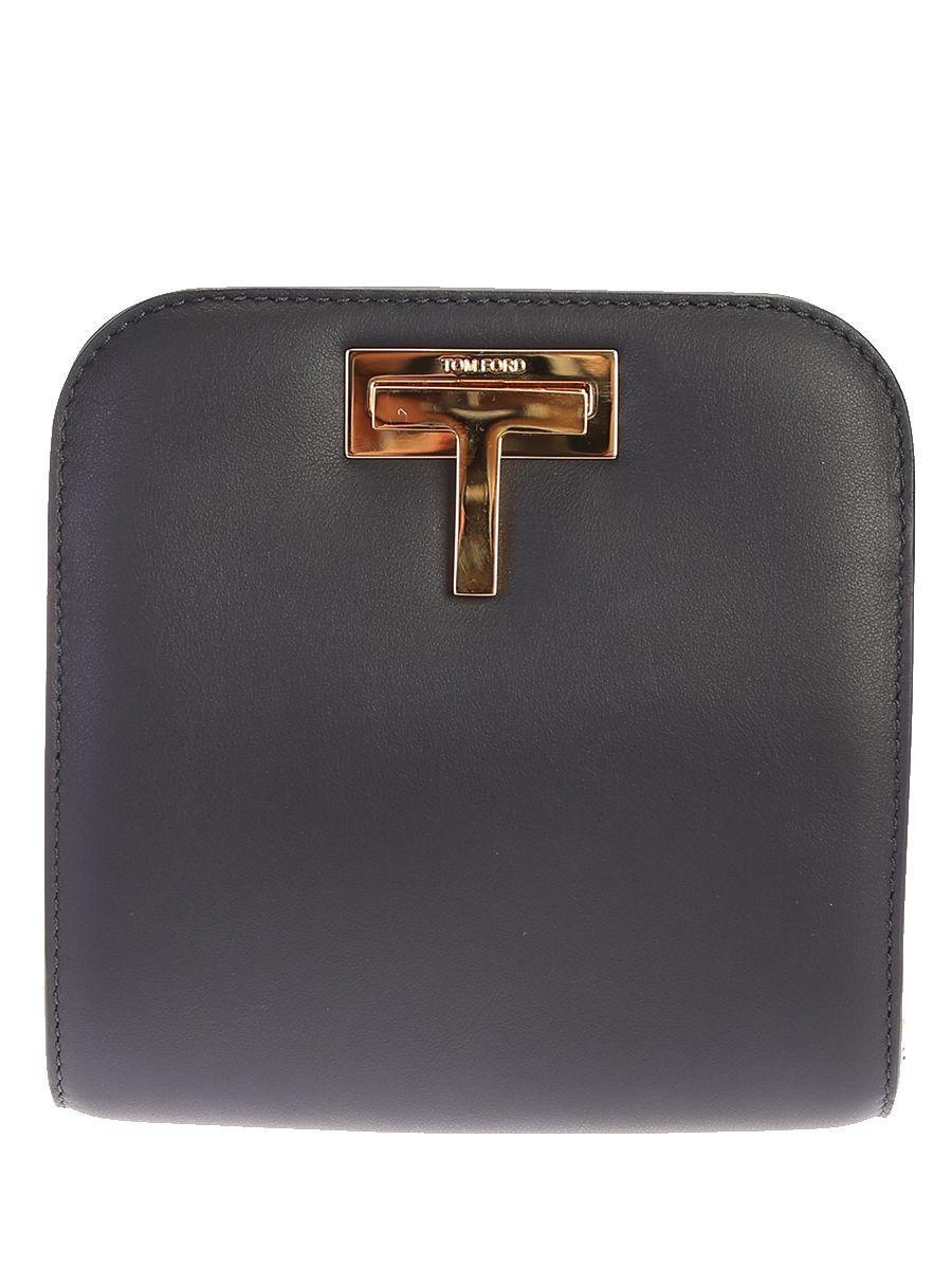 Tom Ford Leather Shoulder Bag In Black