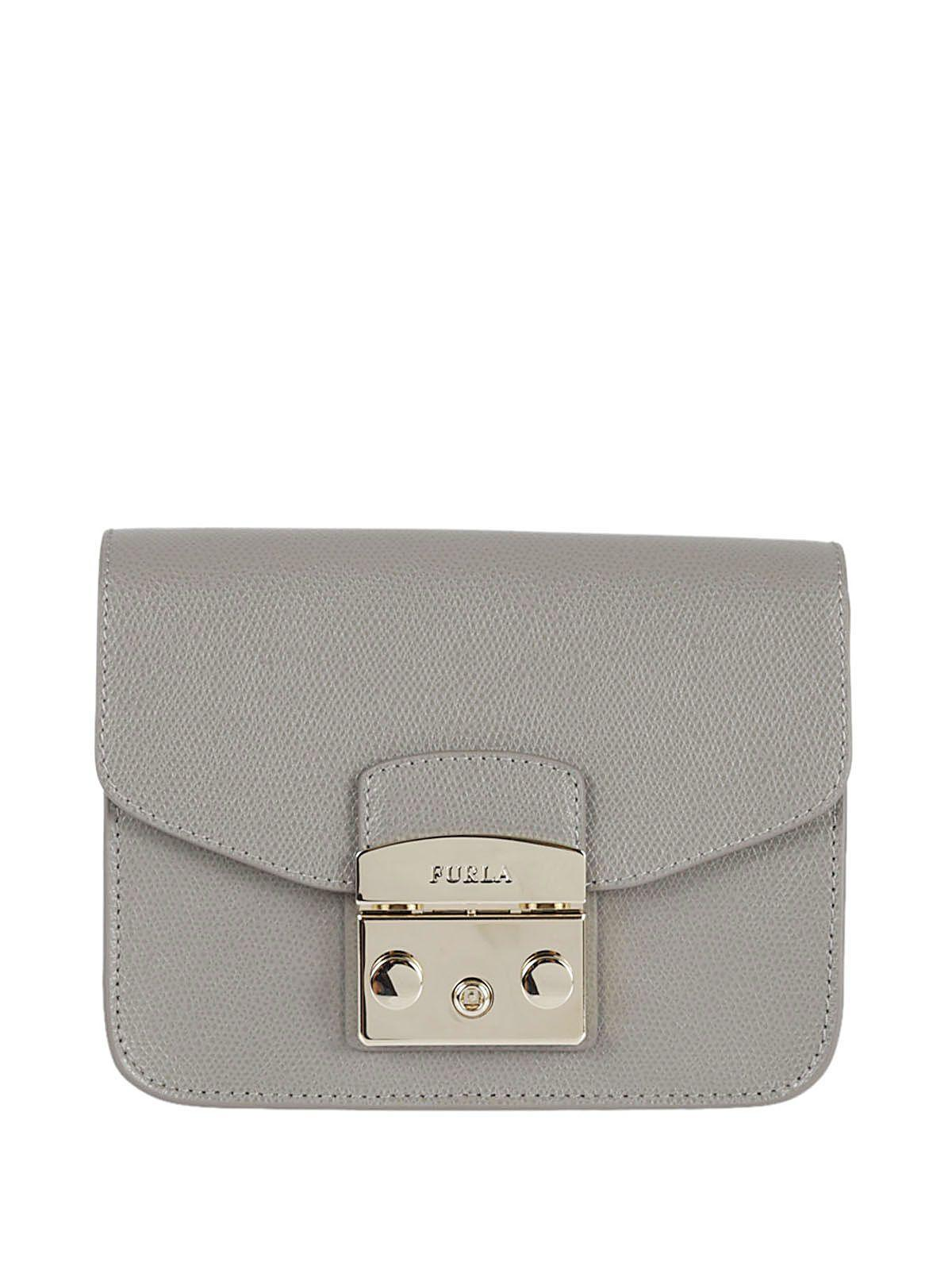 Furla Metropolis Mini Shoulder Bag In Argilla