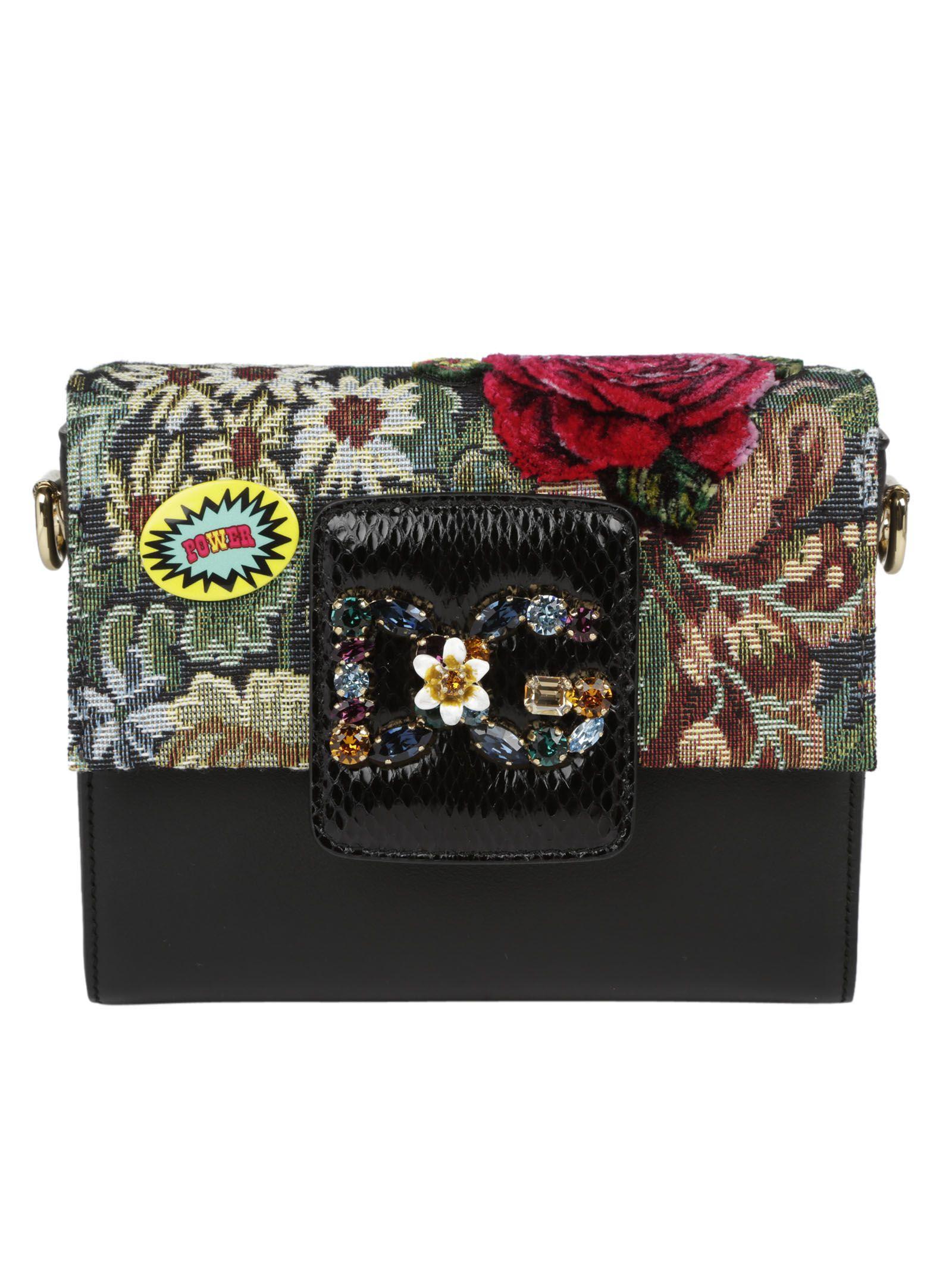 Dolce & Gabbana Millennials Shoulderbag In Multicolor-nero