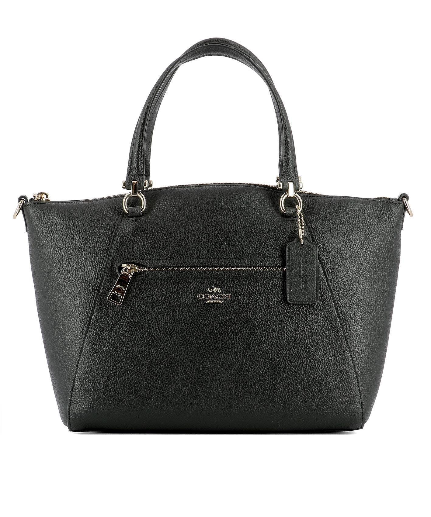 Coach Black Leather Handle Bag