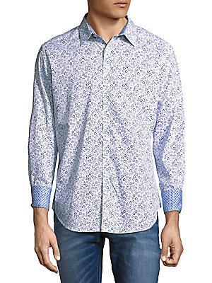 Robert Graham Fridley Printed Shirt In White