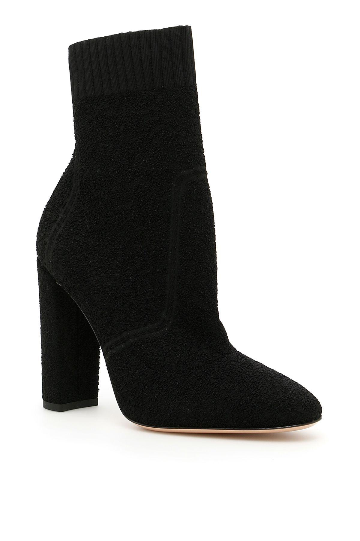 Gianvito Rossi Isa BouclÉ Booties In Blacknero