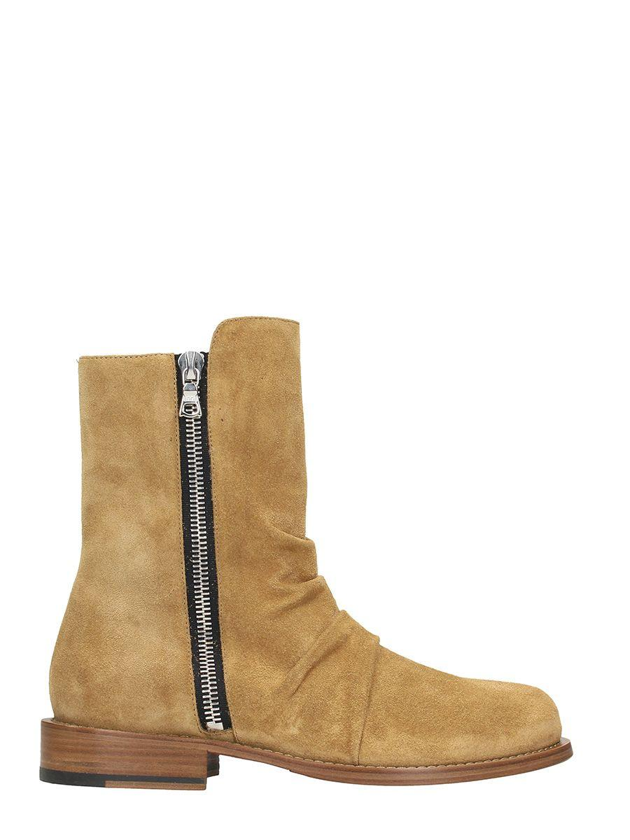 Amiri Stack Tan Suede Boot In Leather Color