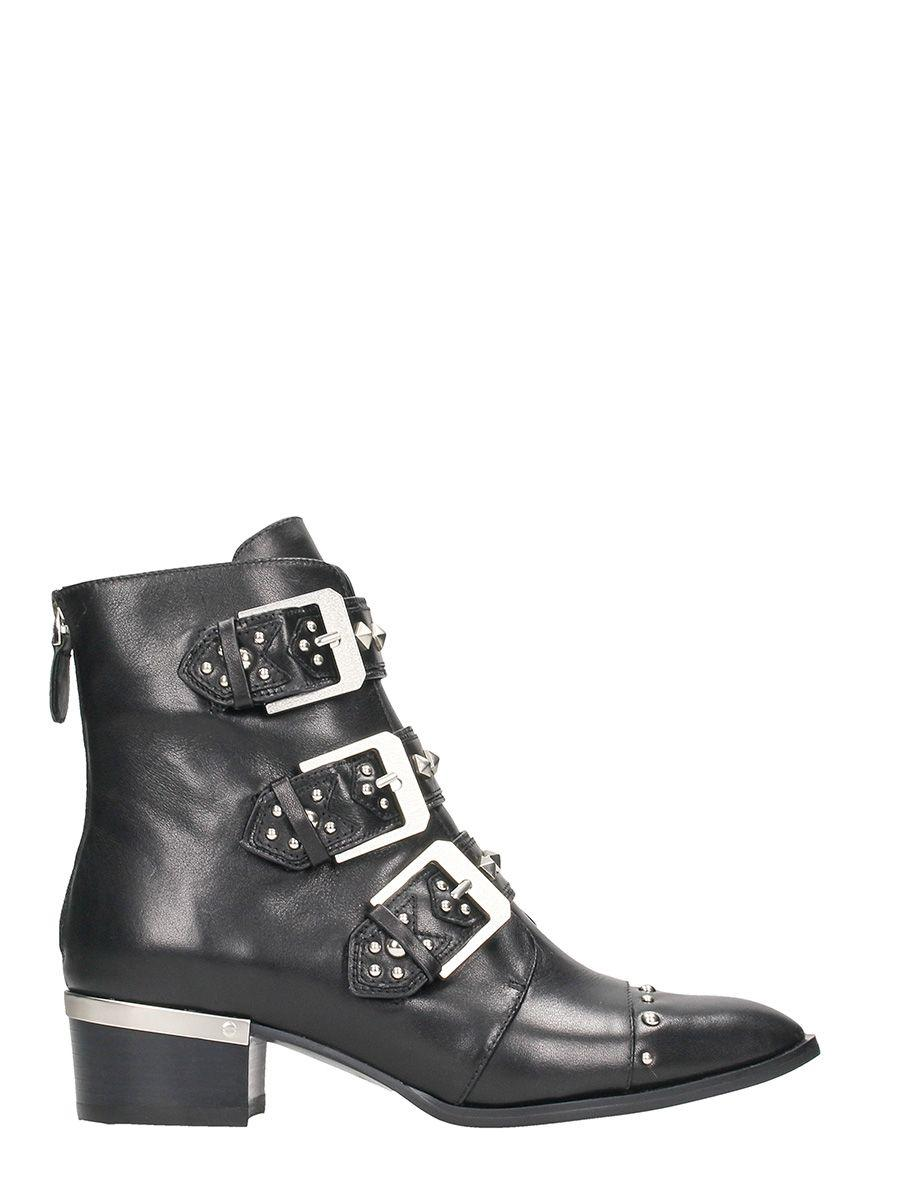 Lola Cruz Black Calf Leather Boots