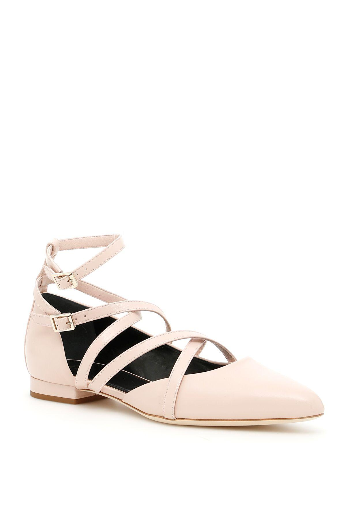 Lanvin Laced Ballerinas In Light Pinkrosa