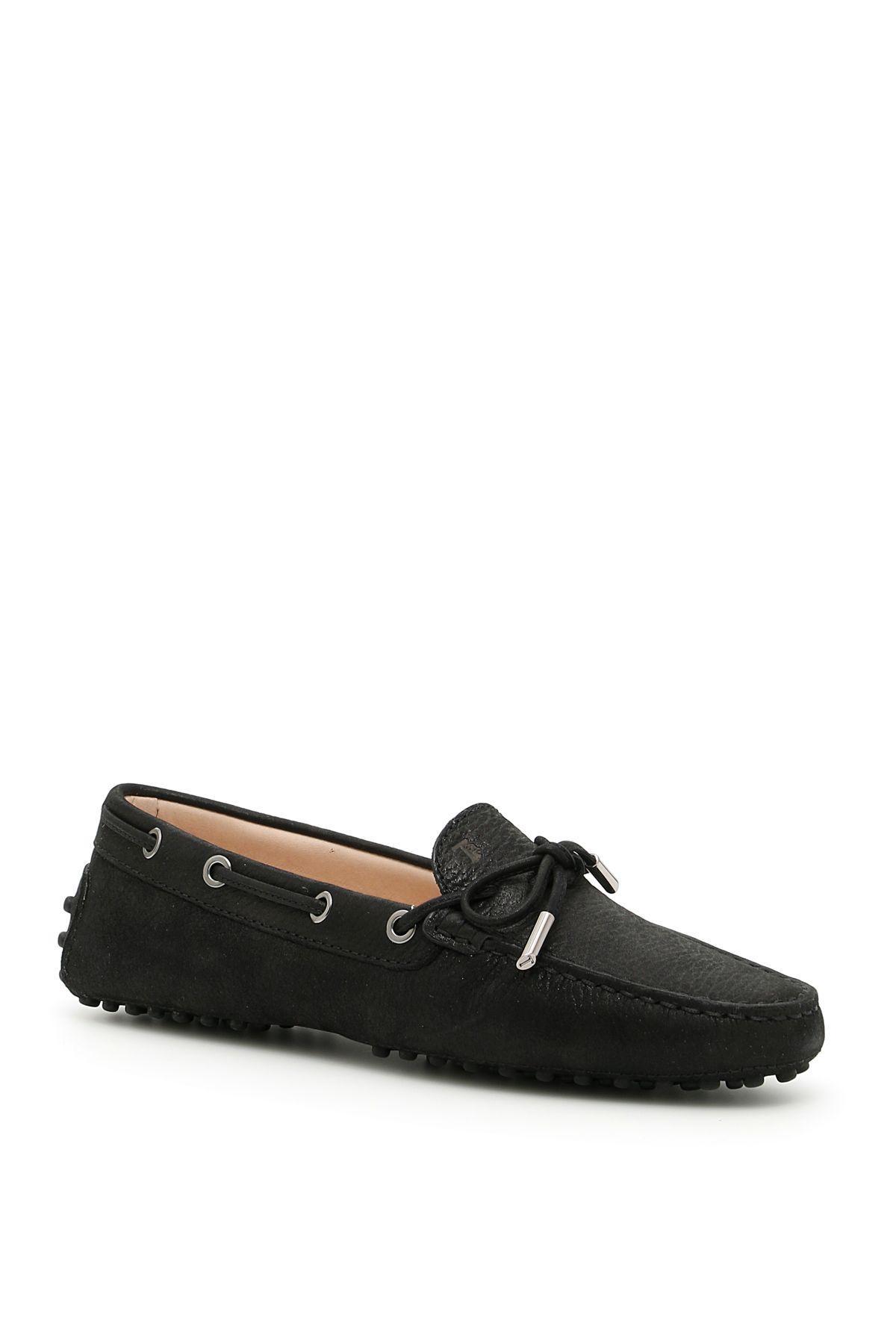 Tod's City Gommino Loafers In Neronero