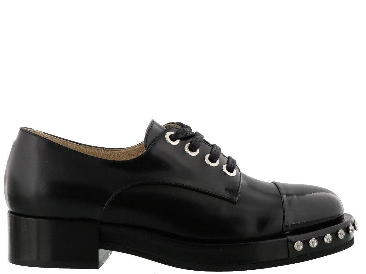 N°21 Lena Laced Up Shoes In Black