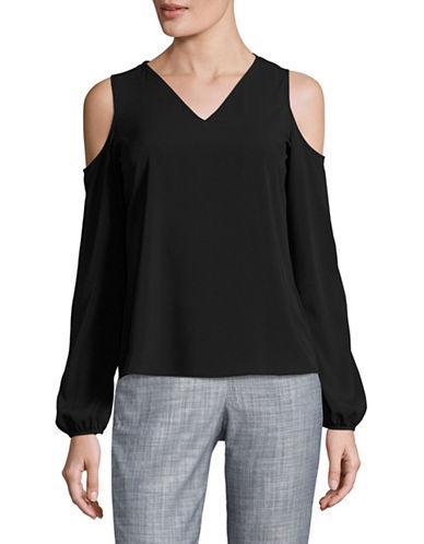 Calvin Klein Cold Shoulder Top-black