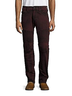 True Religion Slim-fit Moto Jeans In Black Cherry