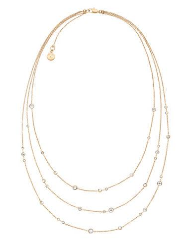Michael Kors Layered Three-row Crystal Necklace-gold