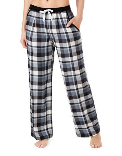 Dkny Flannel Pajama Pants-blue