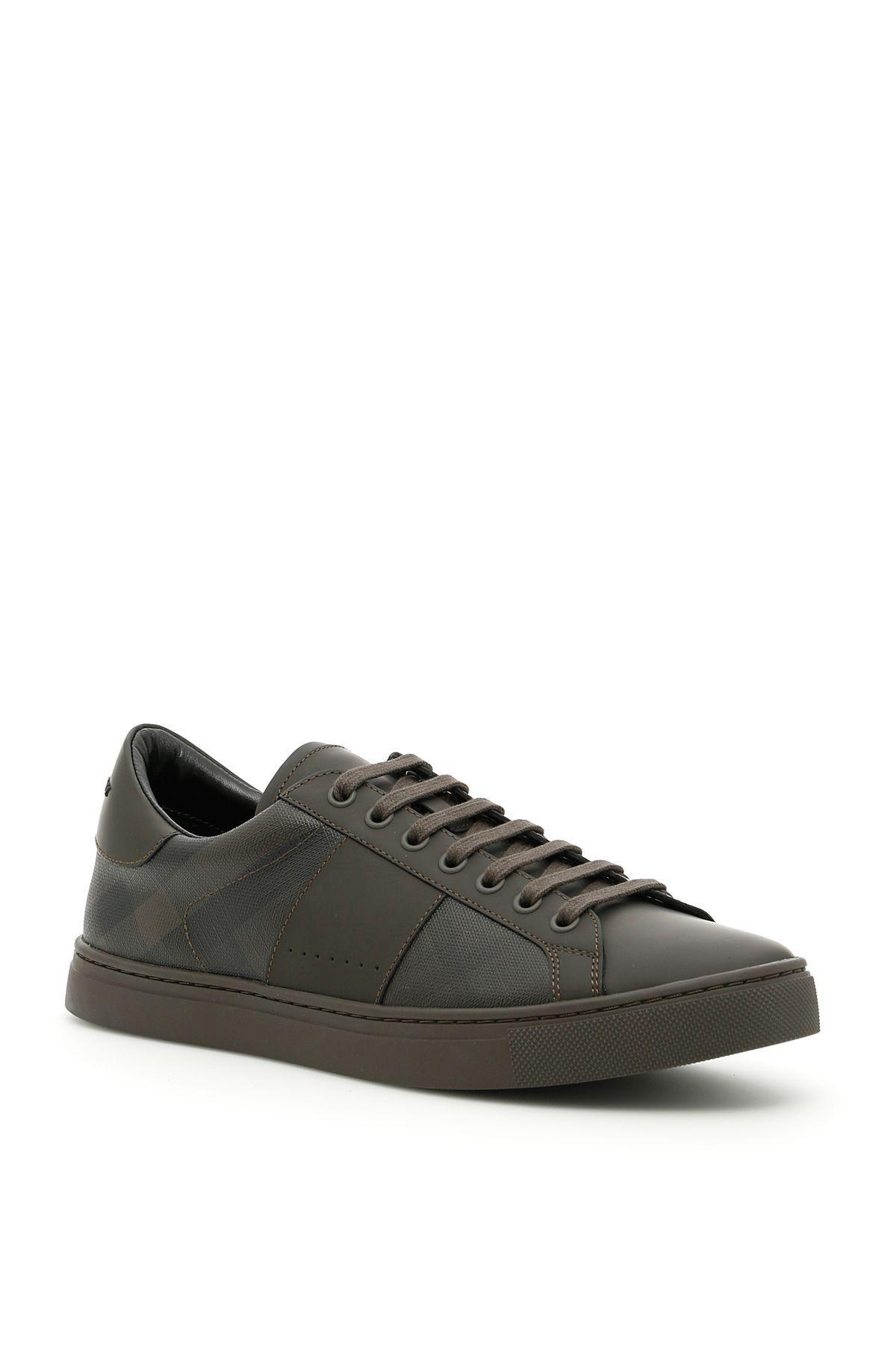 Burberry Ritson Sneakers In Peppercornmarrone