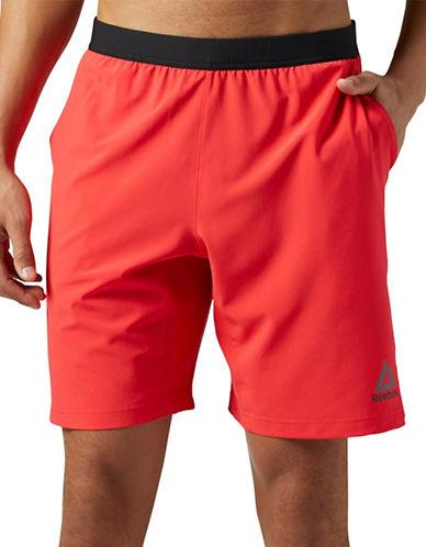 Reebok Contrast Banded Shorts-red
