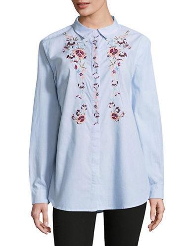 Tommy Hilfiger Denim Roll-tab Sleeve Shirt-blue