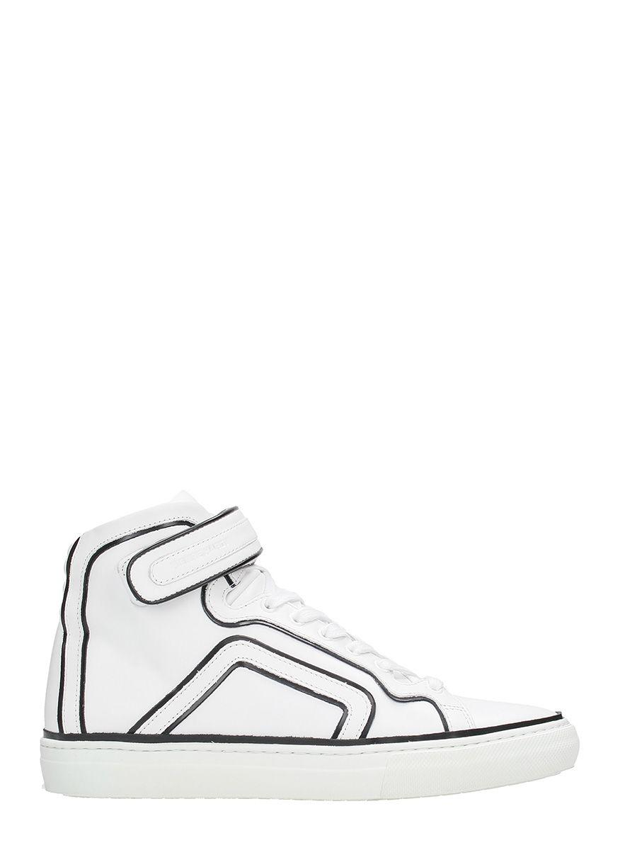 Pierre Hardy 101 Match White Leather Sneakers