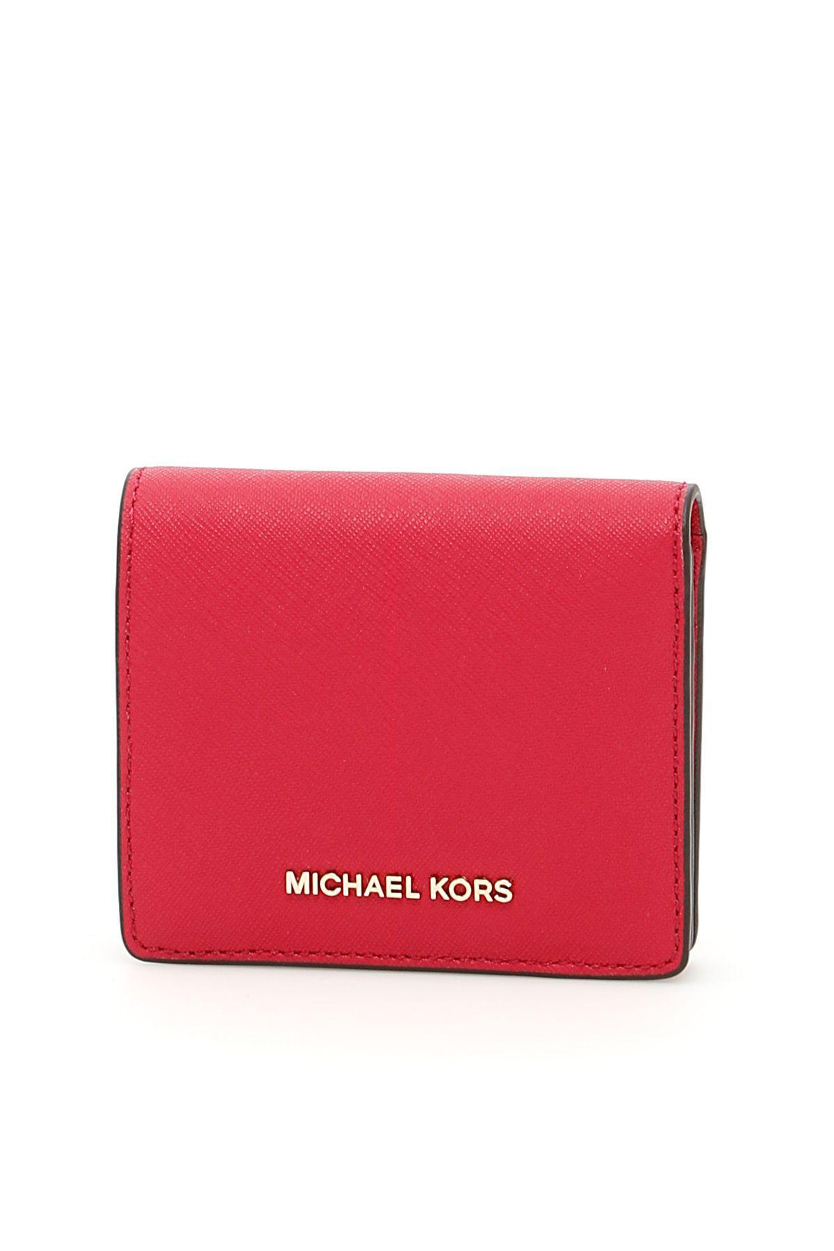 Michael Michael Kors Jet Set Travel Cardholder In Cranberryviola