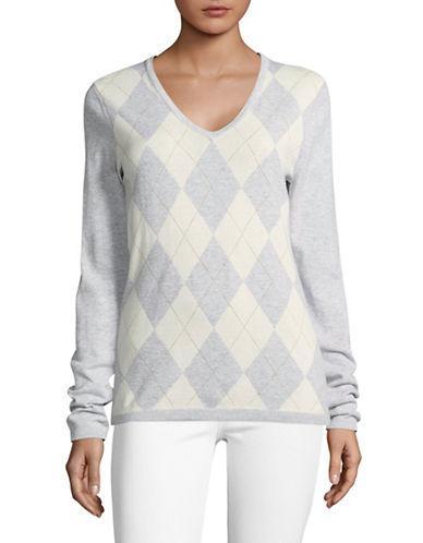 Tommy Hilfiger Lurex Argyle Sweater-grey