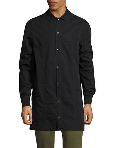 Rick Owens Drkshdw Long Sleeve Sportshirt-black