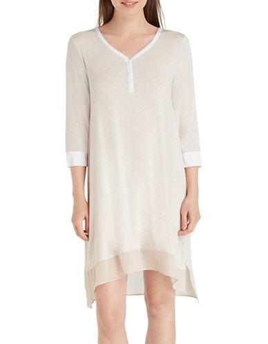 Dkny Jersey Sleep Shirt-beige