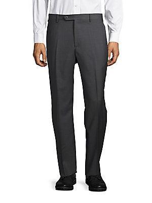 Zanella Todd Wool Dress Pants In Grey