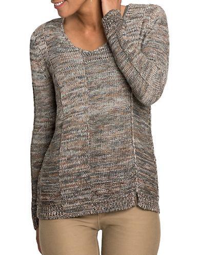 Nic + Zoe Nic+zoe Knit Ombre Sweater-multi-coloured