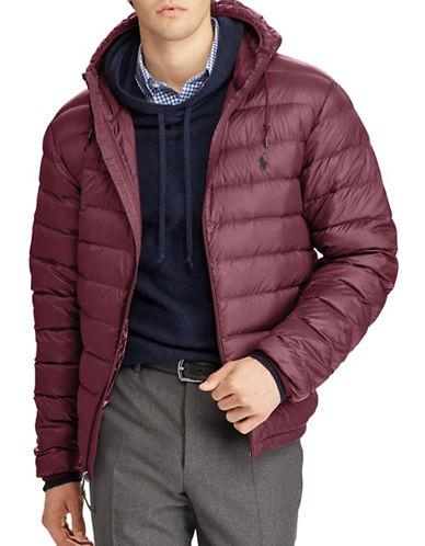 Polo Ralph Lauren Packable Hooded Down Jacket-red