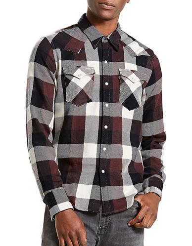 Levi's Barstow Western Check Cotton Casual Button-down Shirt-brown