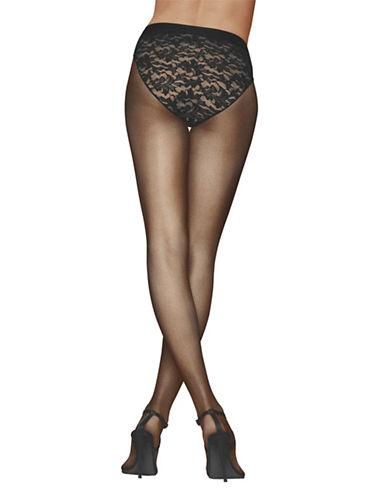 Donna Karan Lace Control-top Tights-black