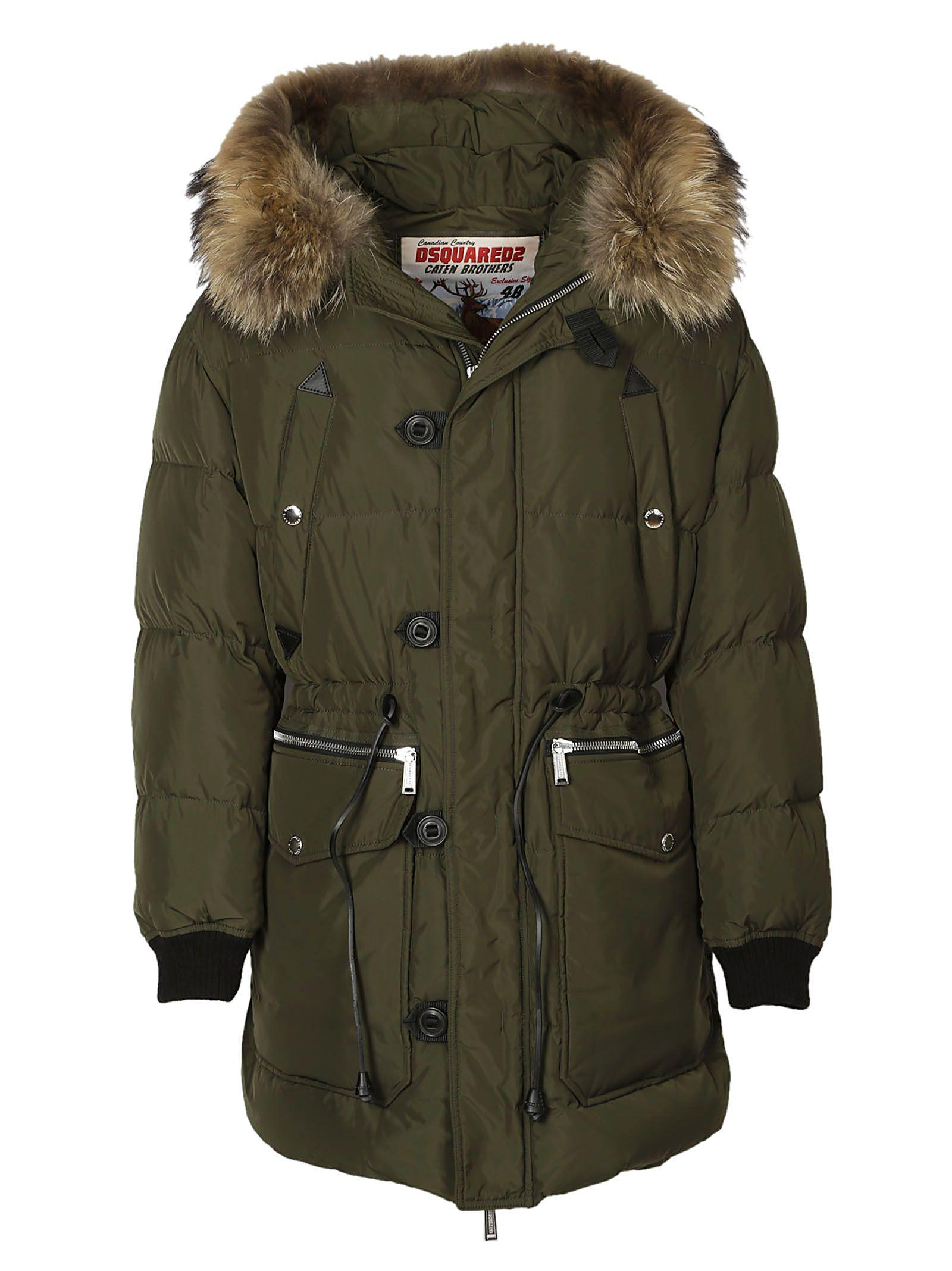 Dsquared2 Jacket In Green