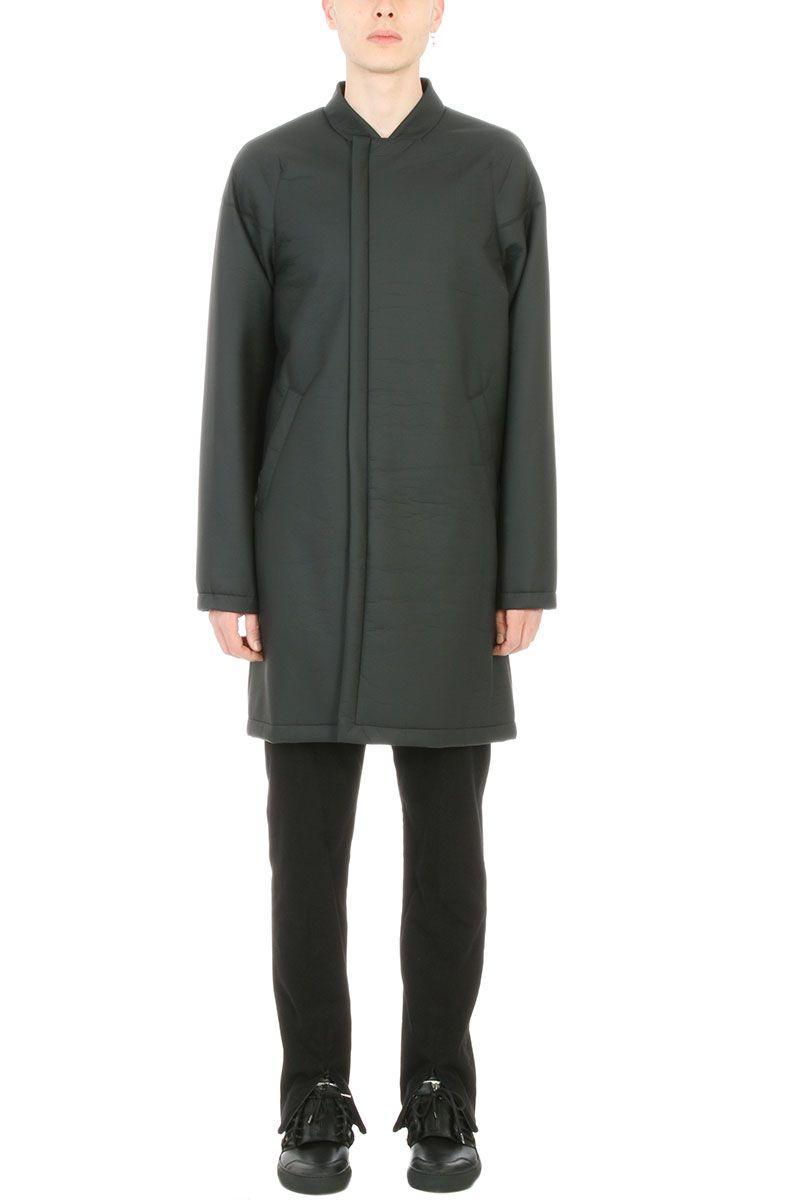 Helmut Lang Black Polyester Coat