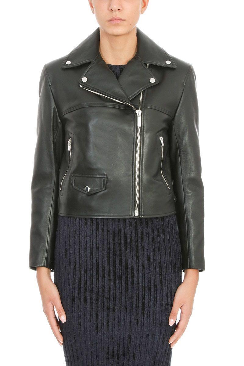 Helmut Lang Leather Biker Jacket In Black