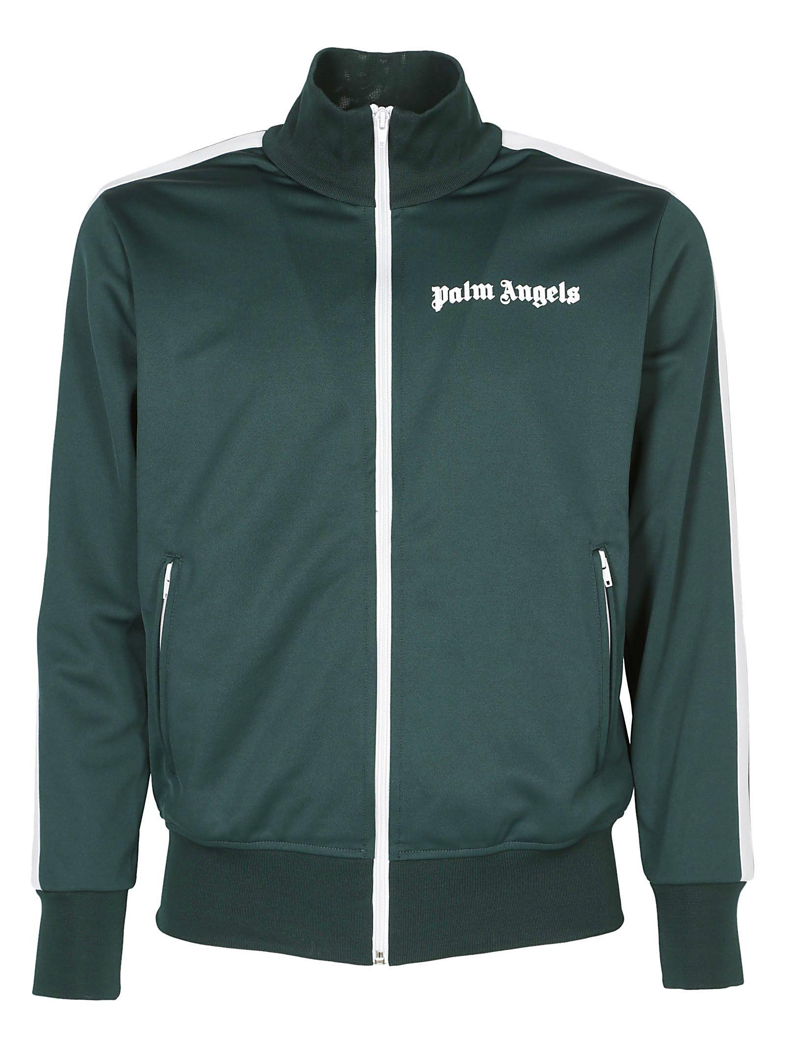 Palm Angels Classic Track Jacket In Green White
