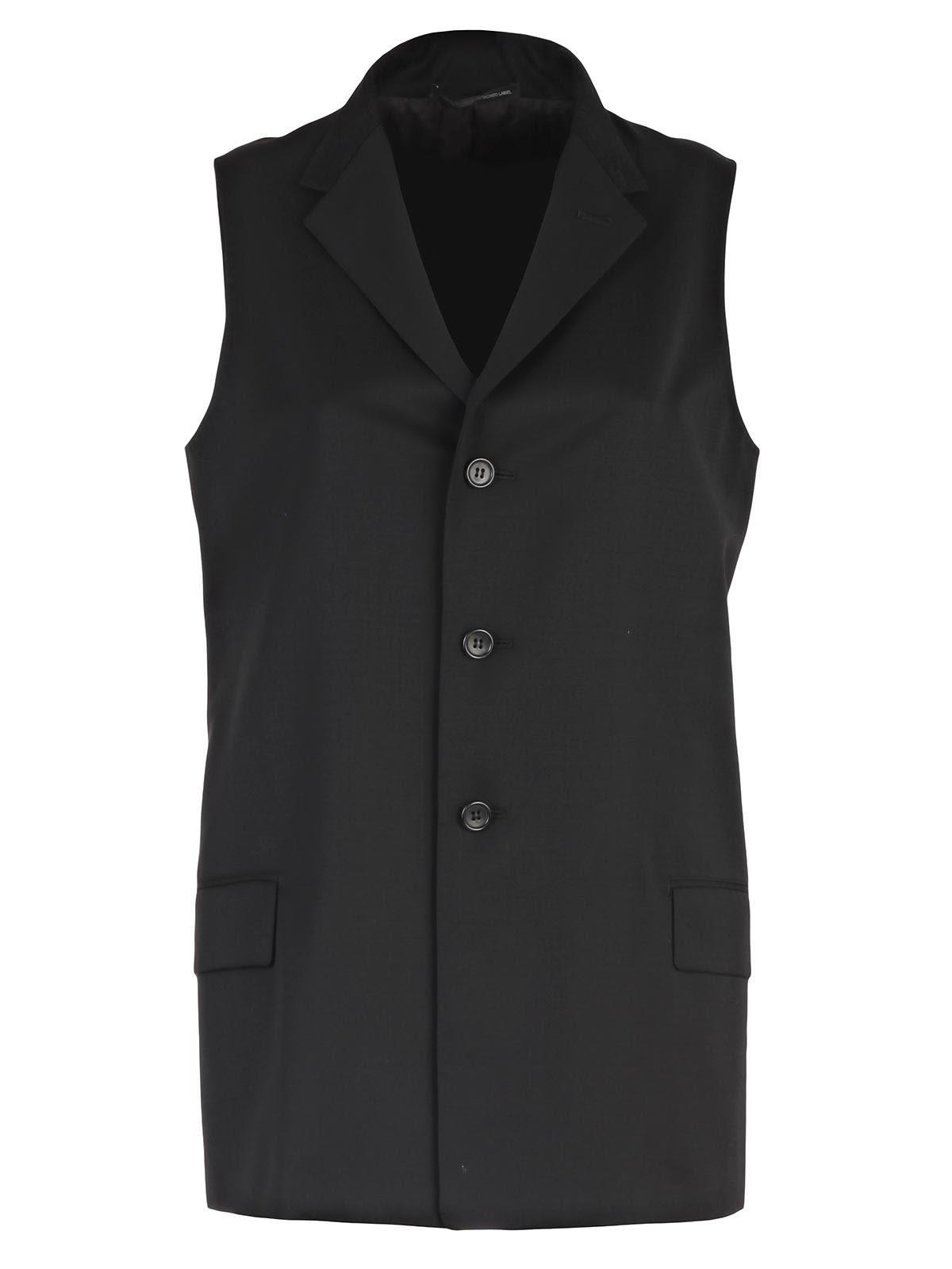 Saint Laurent Vest In Black