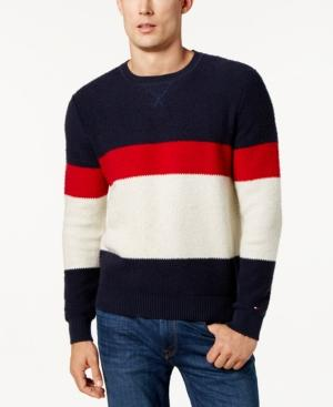 Tommy Hilfiger Men's Colorblocked Sweater In Navy