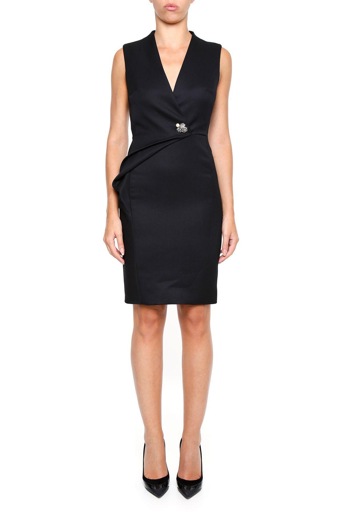 Lanvin Embellished Dress In Blacknero