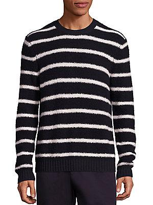 Vince Wool Blend Textured Knit Sweater In Costal Pearl