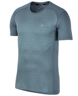 Nike Men's Dry Miler Running T-shirt In Armory Blue Heather