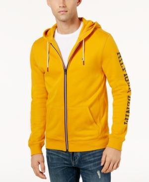 Tommy Hilfiger Men's Dash Logo-print Full-zip Hoodie In Sunflower