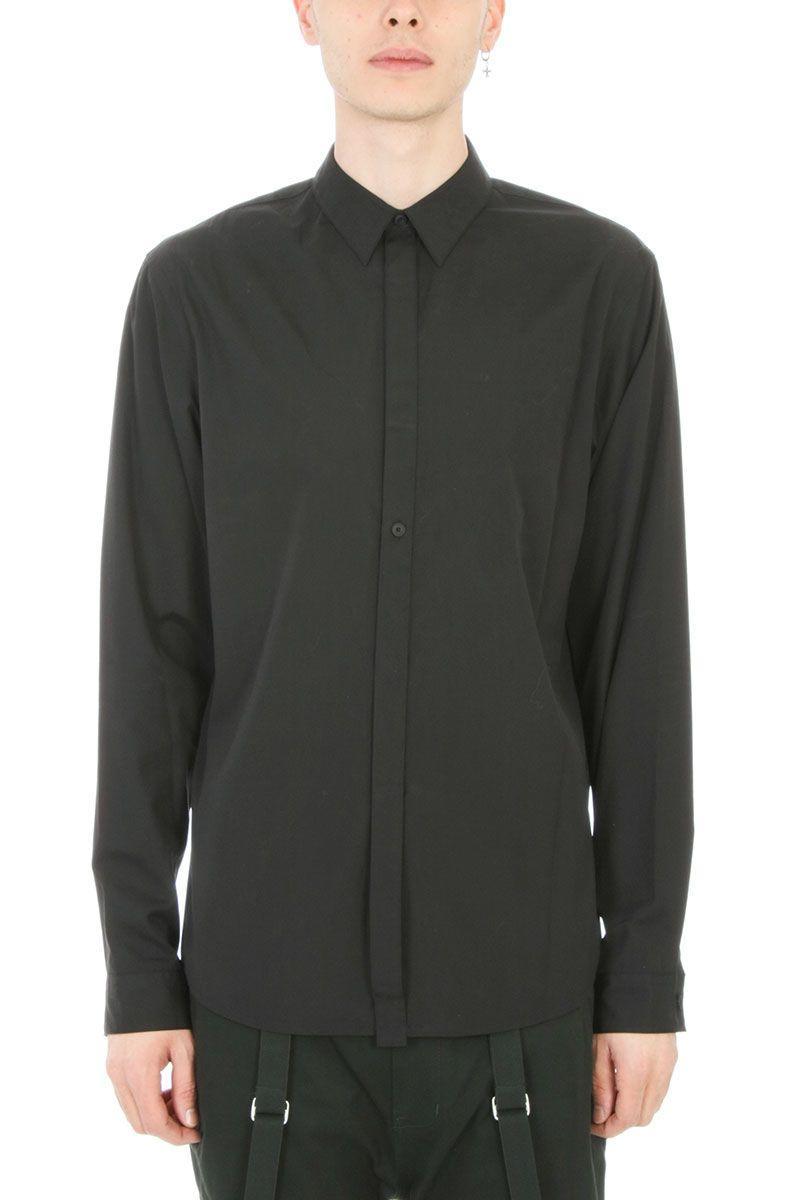 Helmut Lang Detached Black Cotton Shirt