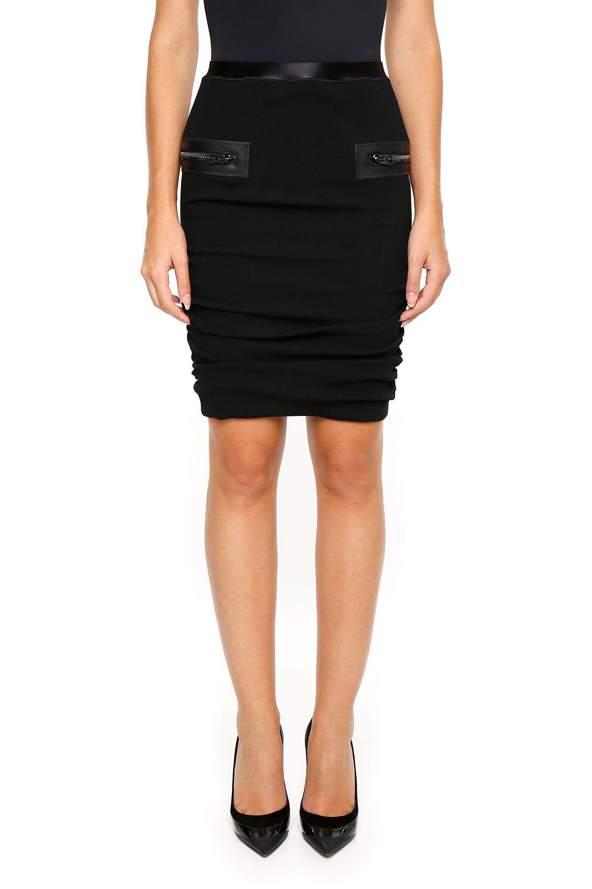 Tom Ford Pencil Skirt In Blacknero