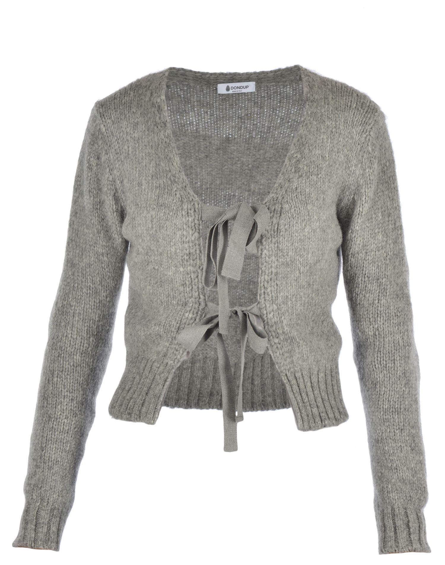 Dondup Wool Cardigan In Grey