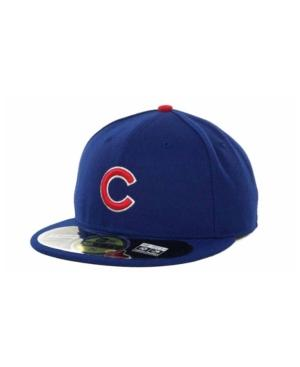 New Era Chicago Cubs Authentic Collection 59fifty Hat In Royalblue