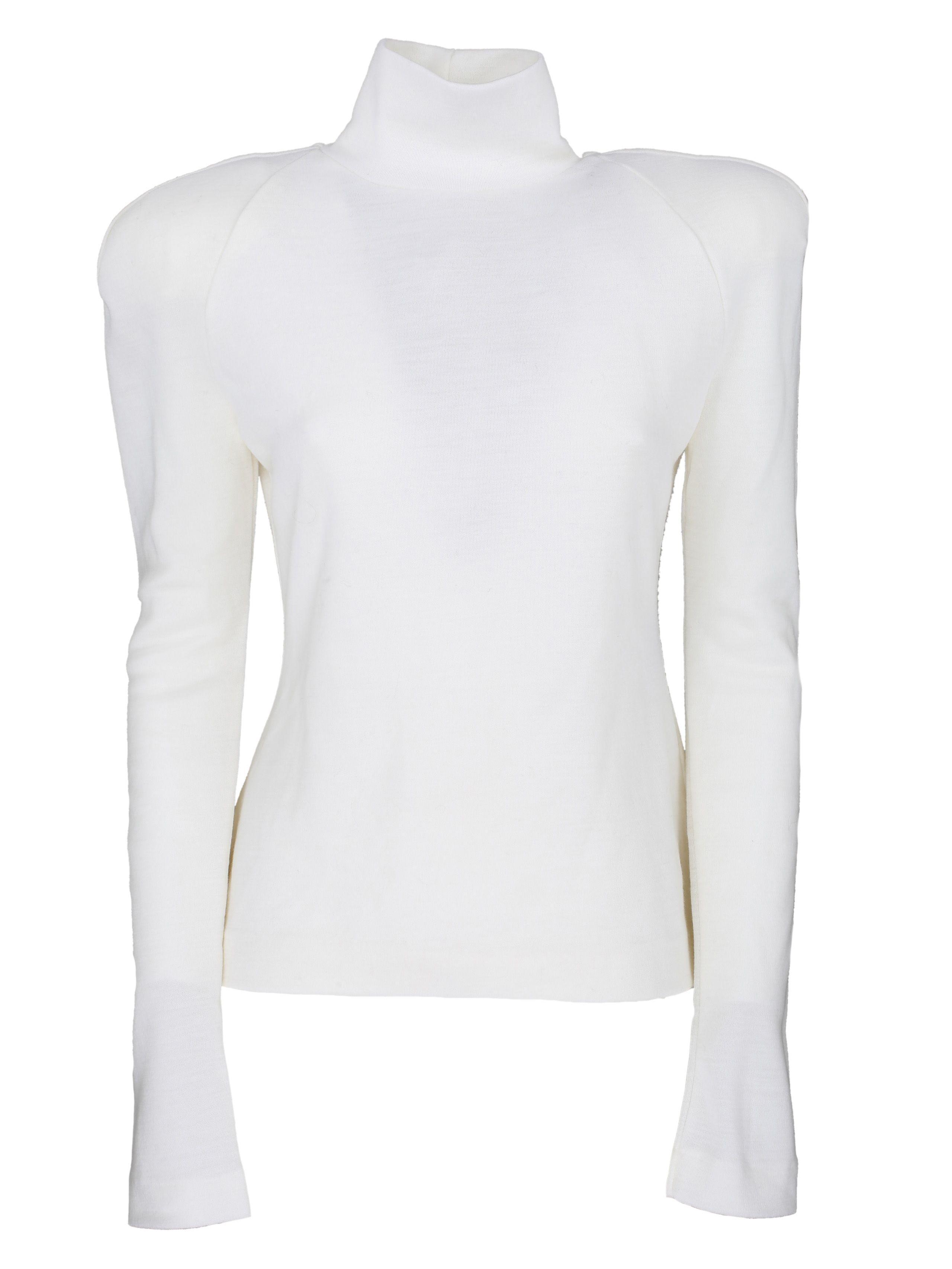 Haider Ackermann Roll Neck Sweater In White