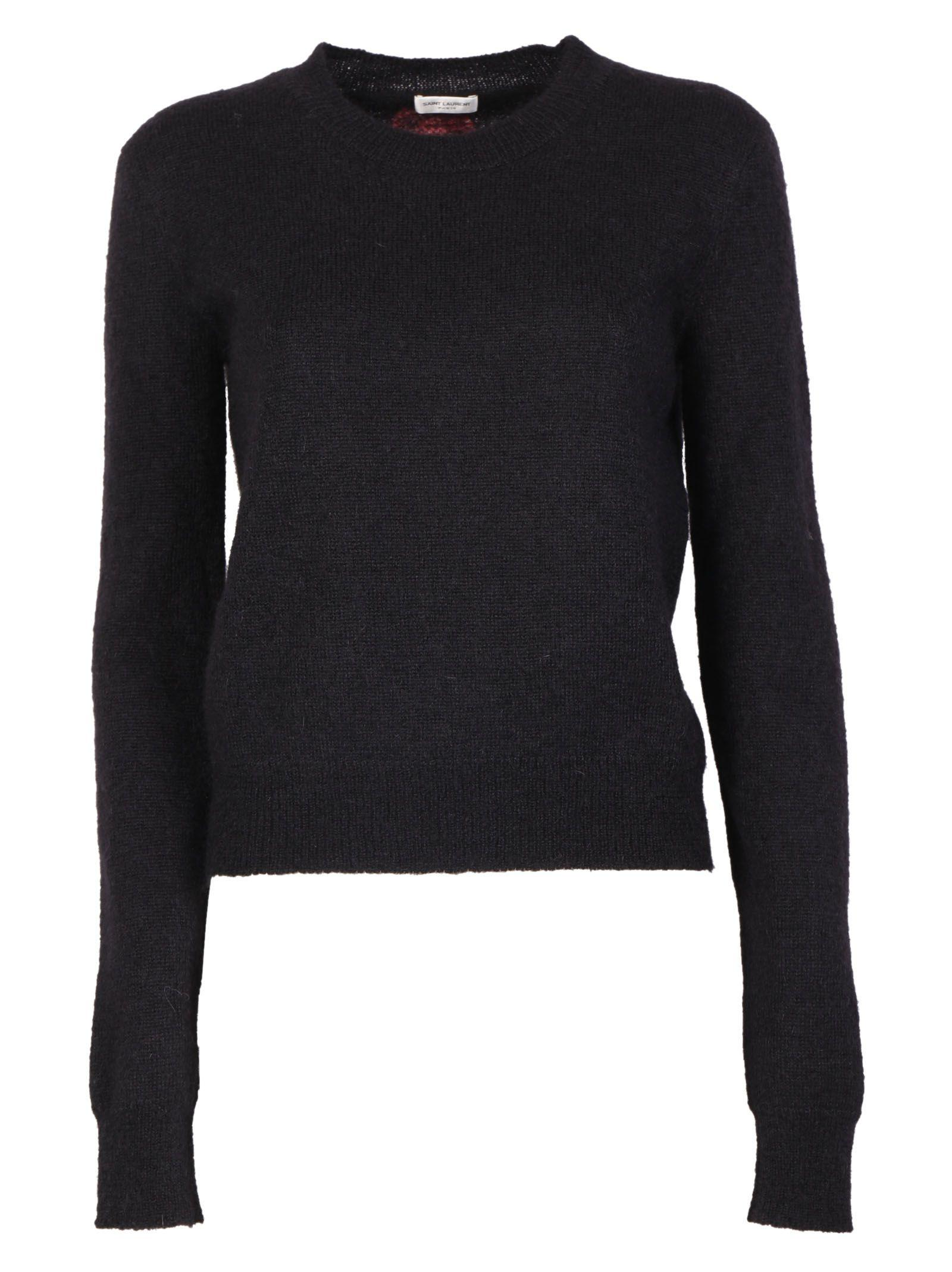 Saint Laurent Knitwear In Noir-framboise