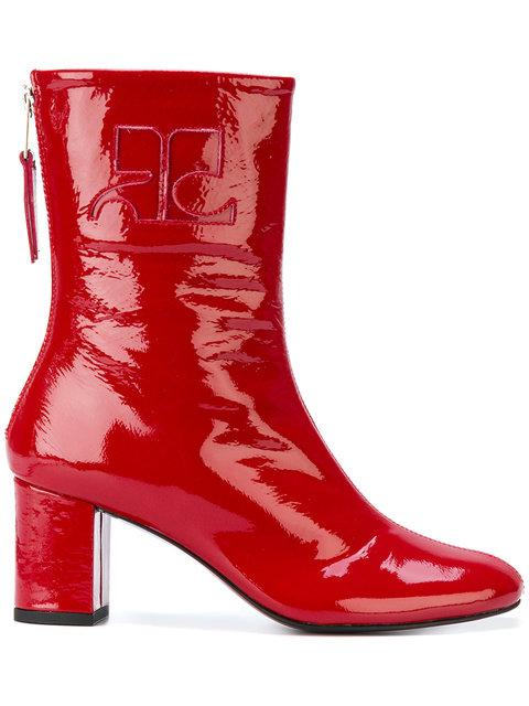 CourrÈges Zipped Fitted Boots