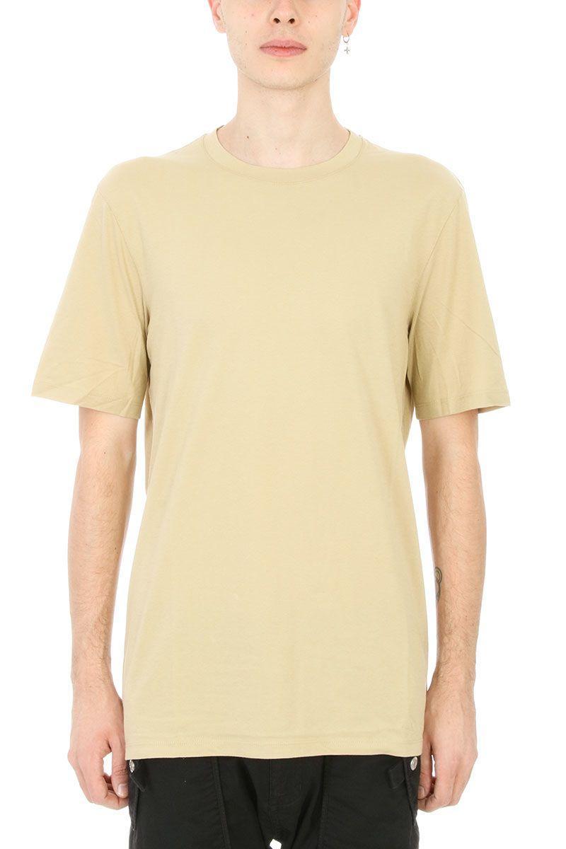 Helmut Lang Mustard Cotton T-shirt In Green