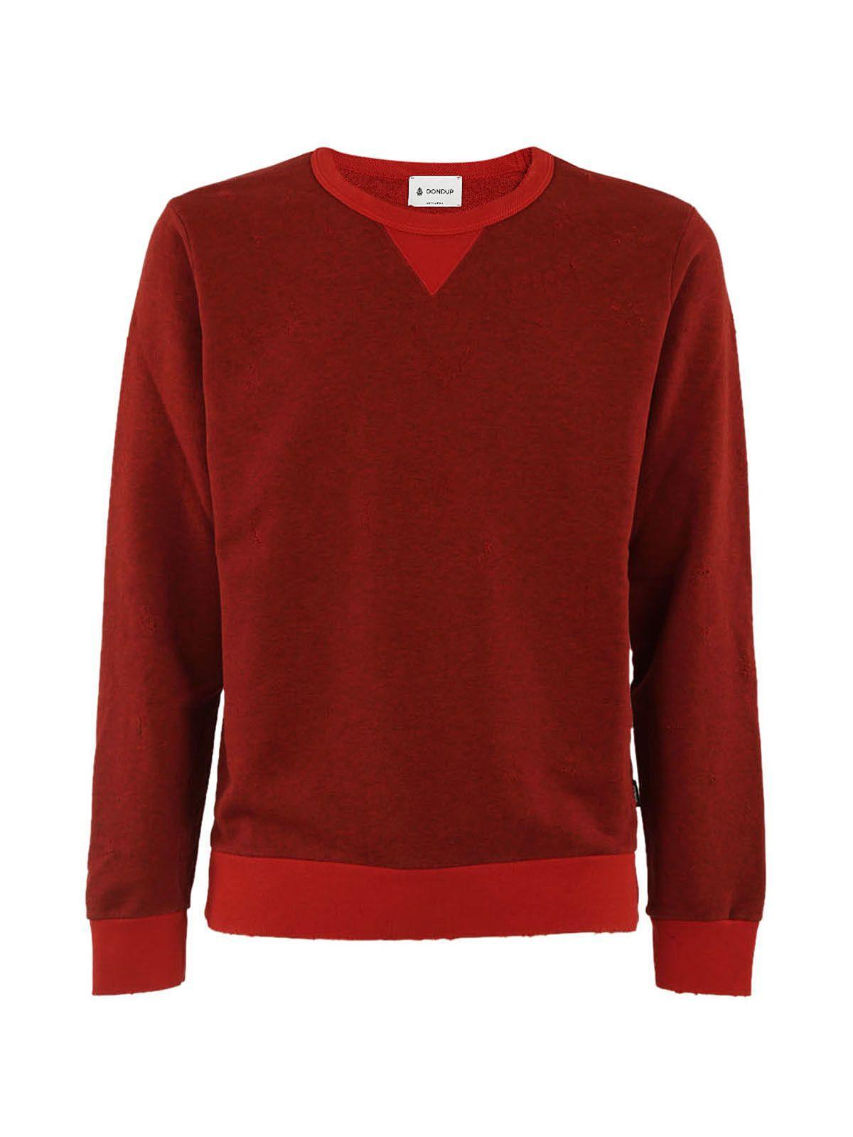 Dondup Distressed Sweatshirt In Rossa